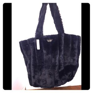 Victoria's Secret's Luscious Black Faux Fur Tote
